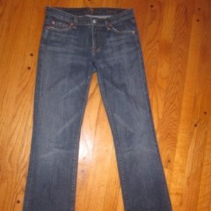 7 FOR ALL MANKIND BOOT CUT JEANS 27 (4 LONG) WOMEN